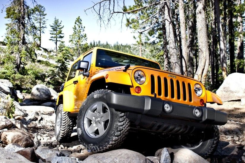 car wallpapers yellow jeep wrangler rubicon vehicles wallpapers yellow jeep  vranglner rubicon suv stones front