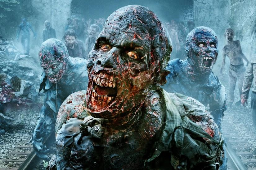 HD The <b>Walking Dead Zombies</b> Behind The Fence <