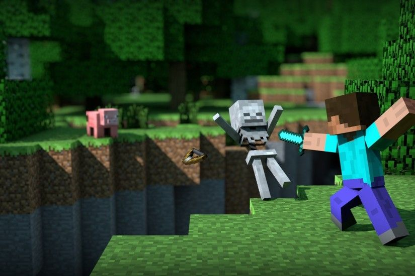 Video Game - Minecraft Mojang Skeleton Steve (Minecraft) Video Game  Wallpaper