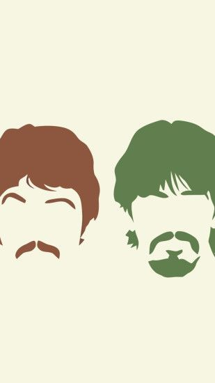 1080x1920 Wallpaper the beatles, silhouette, haircut, mustache, members