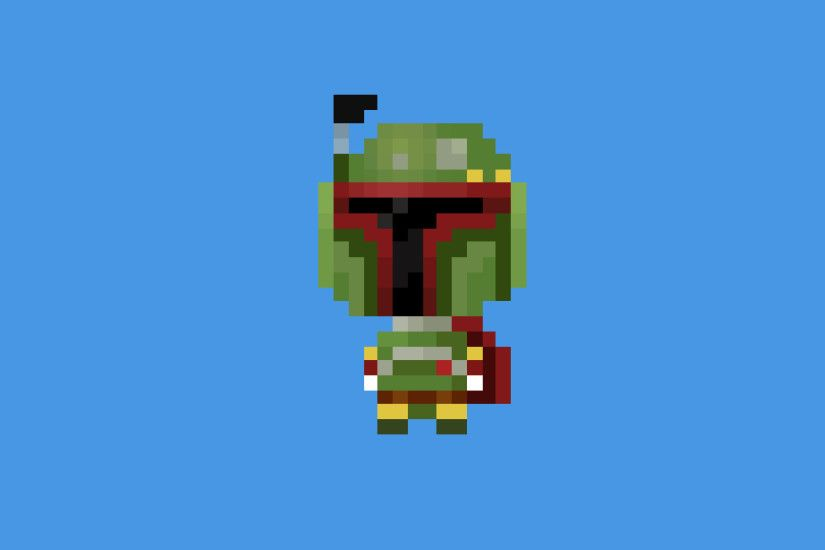 Boba Fett 8-bit Wallpaper