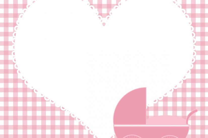Baby Girl Heart Background