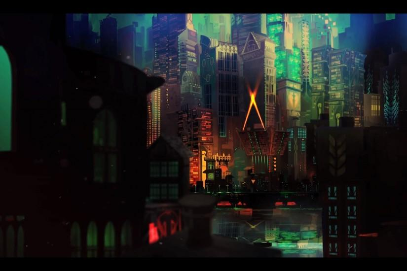 TRANSISTOR game anime city d wallpaper background