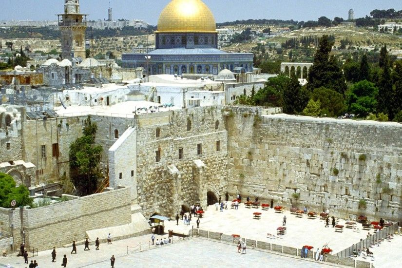 western_wall_and_omar_mosque_jerusalem_israel_wallpaper ...