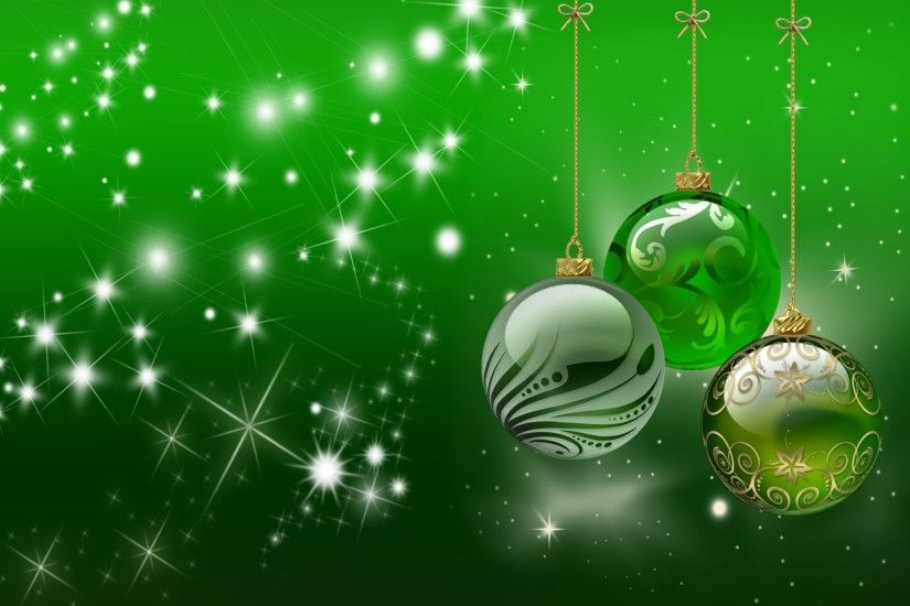 Abstract Christmas Green Wallpaper