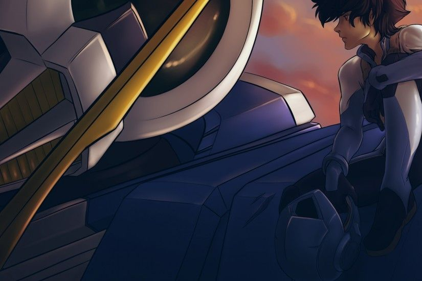 Setsuna F. Seiei, Mobile Suit Gundam 00, Mecha, Profile View