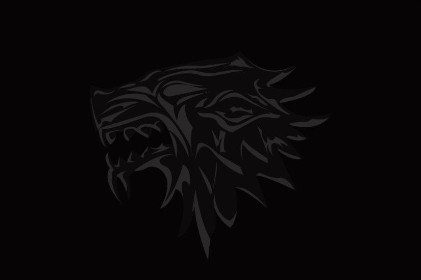 3840x2160 Wallpaper house of stark, game of thrones, logo, emblem, wolf