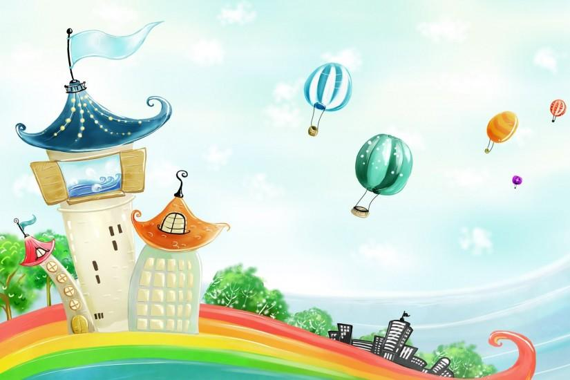 beautiful cartoon background 1920x1200 download free