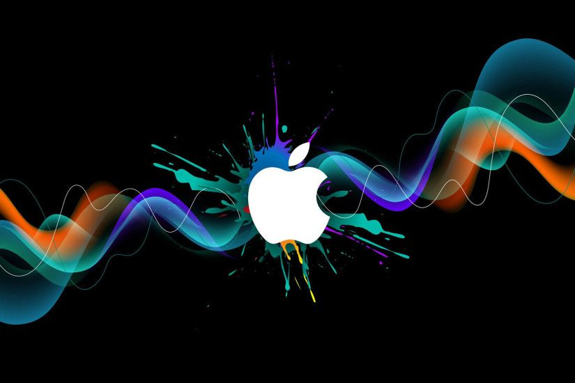 hd pics photos 3d apple logo wallpaper