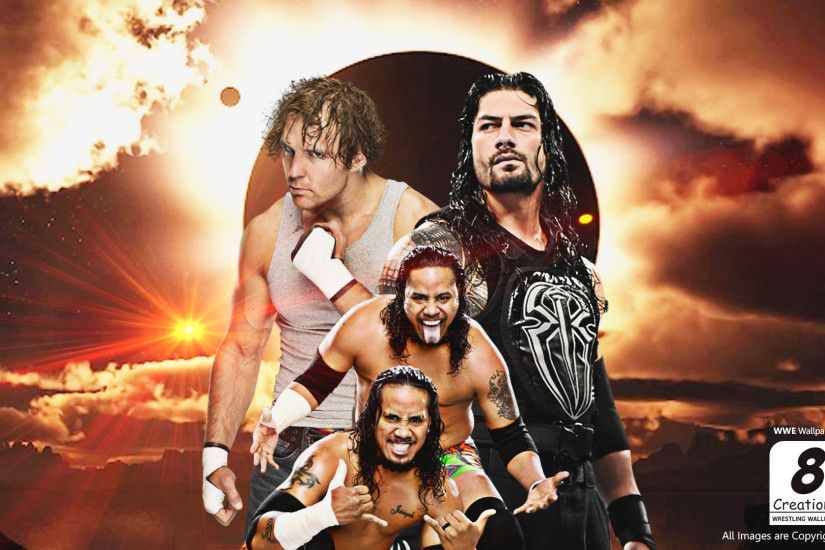 ... Dean Ambrose Roman Reigns and Usos Wallpaper by Arunraj1791