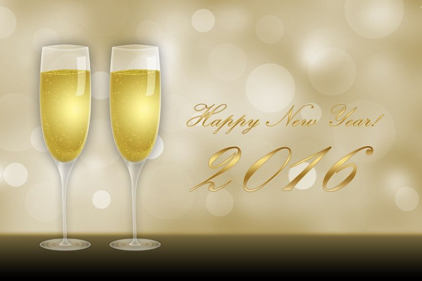 Champagne glasses on New Year's Eve wallpaper