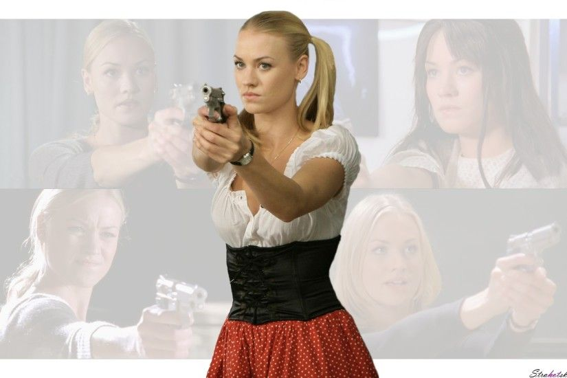 "Yvonne Strahovski as the bad ass wiener girl on ""Chuck"""