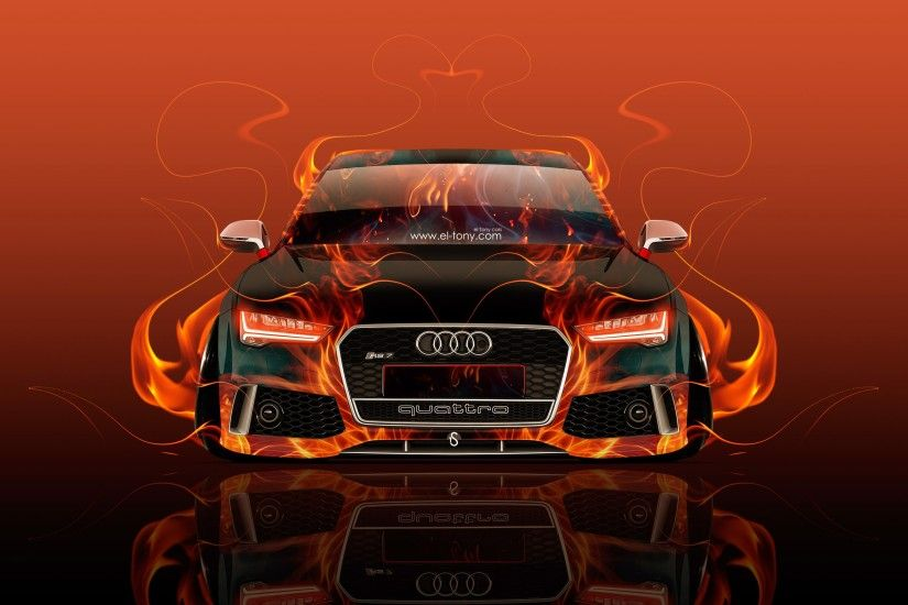 Audi Rs7 Front Fire Abstract Car 2015 Wallpapers El Tony Cars Ino