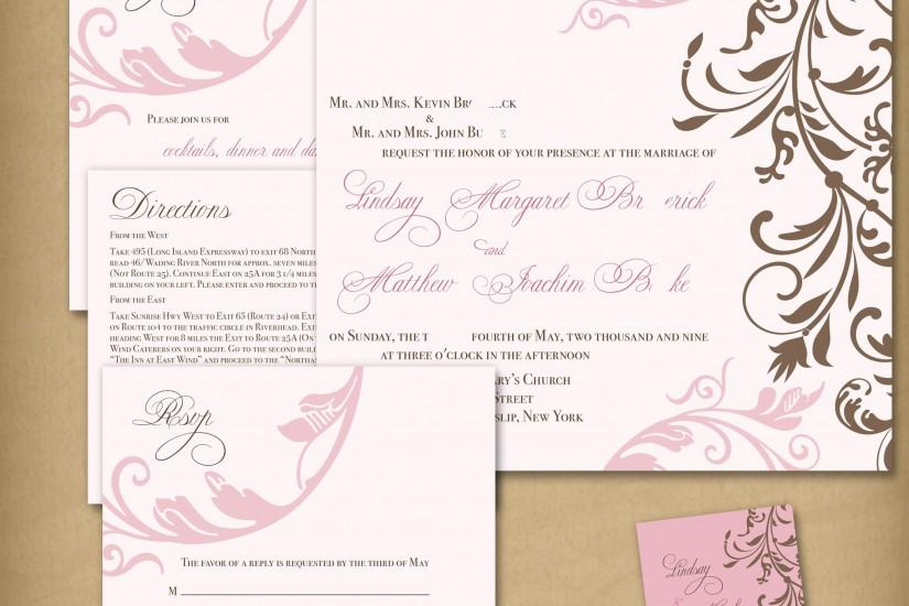 ... Charming Wedding Invite Template Cream Background With A Red Flower  Motif Wedding Invitation Ideas Archives ...