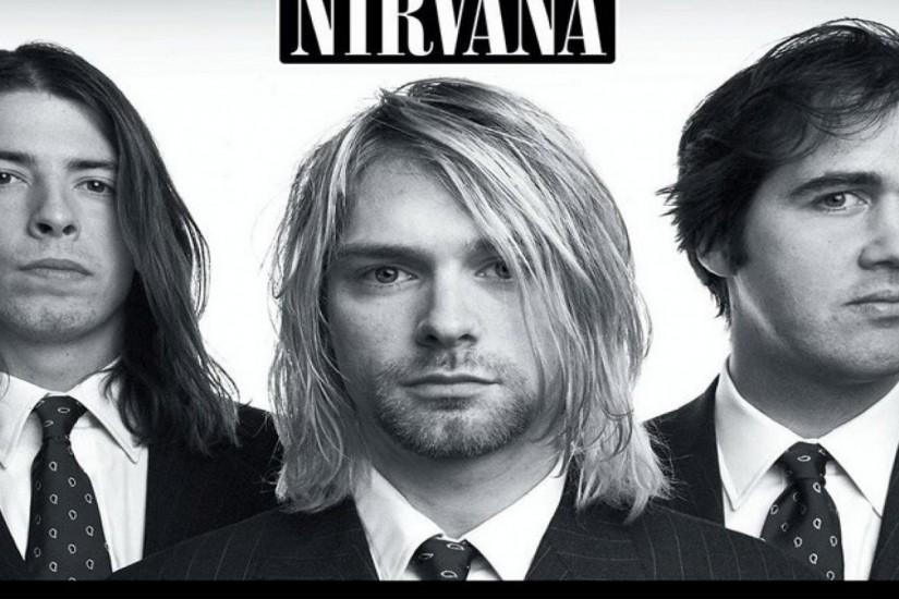 Preview wallpaper nirvana, band, members, suits, look 2048x2048