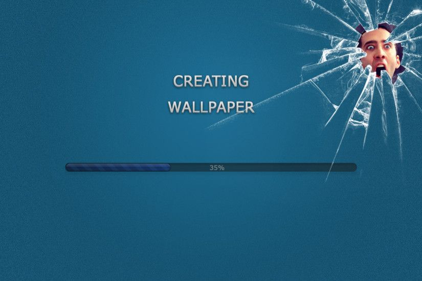 Humor - Celebrity Funny Cage Blue Wallpaper