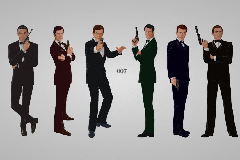 James Bond Wallpaper, james bond, guns, suits widescreen | HD Desktop .
