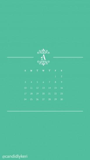 April 2016 Calendar Wallpaper Free Download for mobile, iphone and android,  A Monogram with
