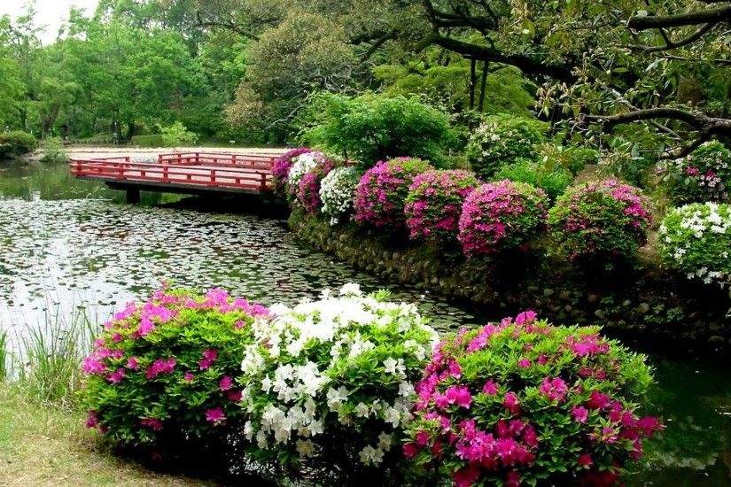 Japanese Flower Garden Wallpaper