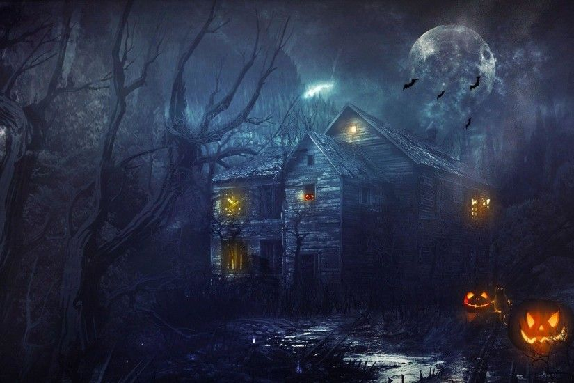 HD Halloween Background 3143 1920x1080px - HDWPin.