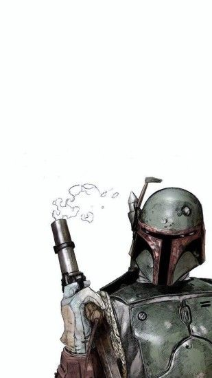 1440x2560 Wallpaper boba fett, star wars, comics, art, helmet