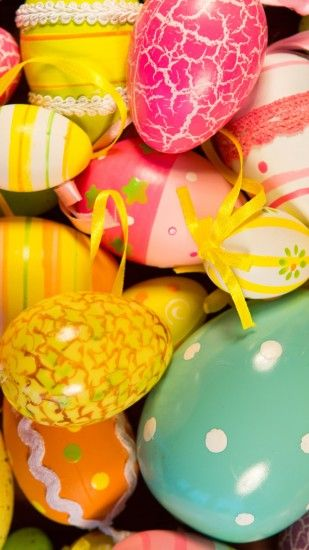 1440x2560 Wallpaper easter eggs, easter, painted eggs, holiday