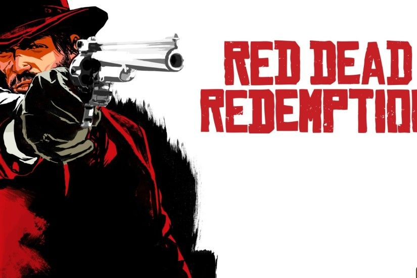 Preview wallpaper red dead redemption, cowboy, hat, revolver 2048x1152