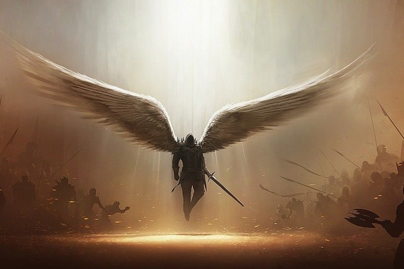 artwork, Angel, Tyrael, Diablo III, Video Games Wallpapers HD / Desktop and  Mobile Backgrounds