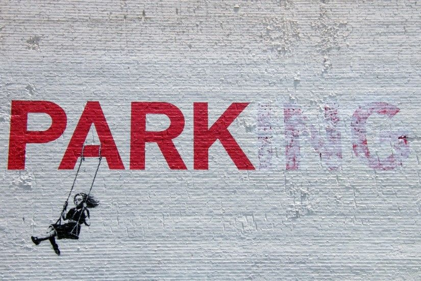 Graffiti, the park, the artist Banksy wallpapers and images - wallpapers,  pictures, photos