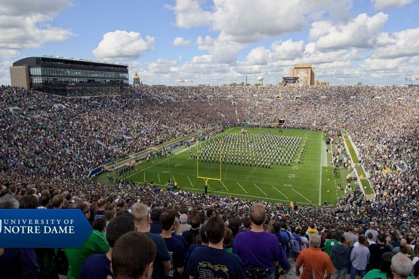 Notre Dame Stadium Background Wallpaper