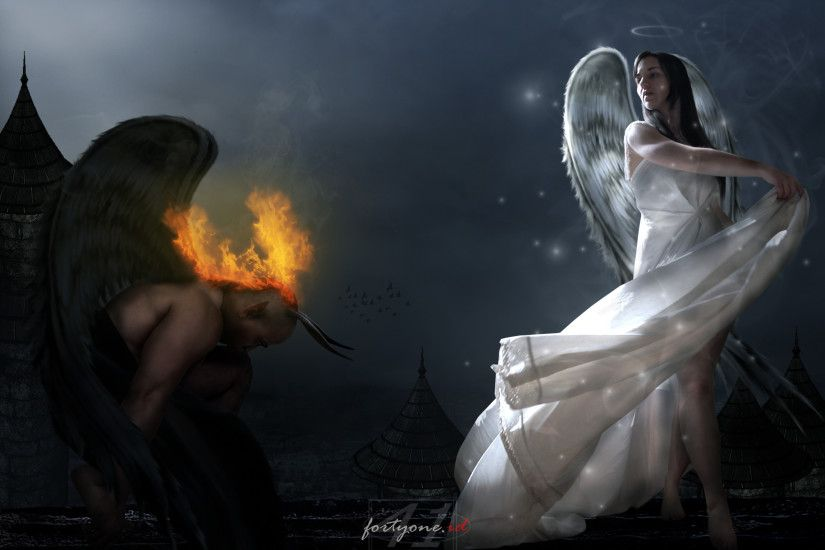 Hot Angel Love Devil | angels devil and angel desktop wallpaper download  angels devil and .