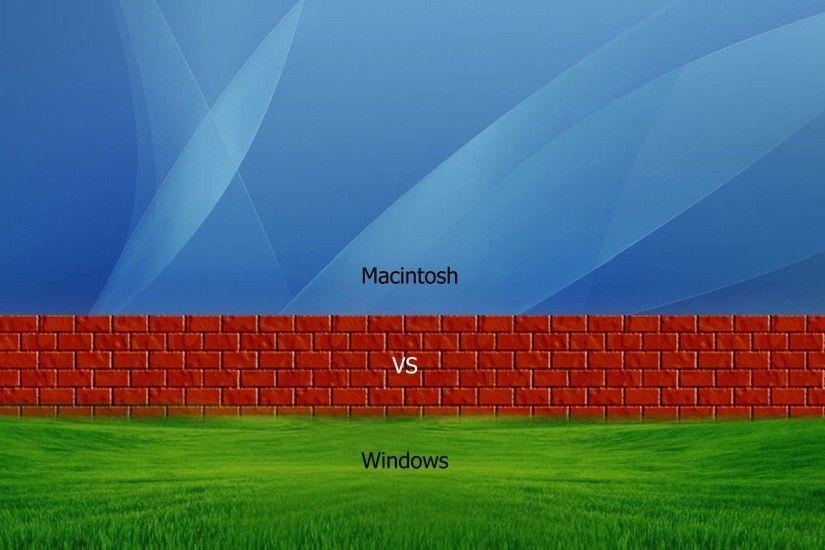 windows vs mac wallpaper 183��