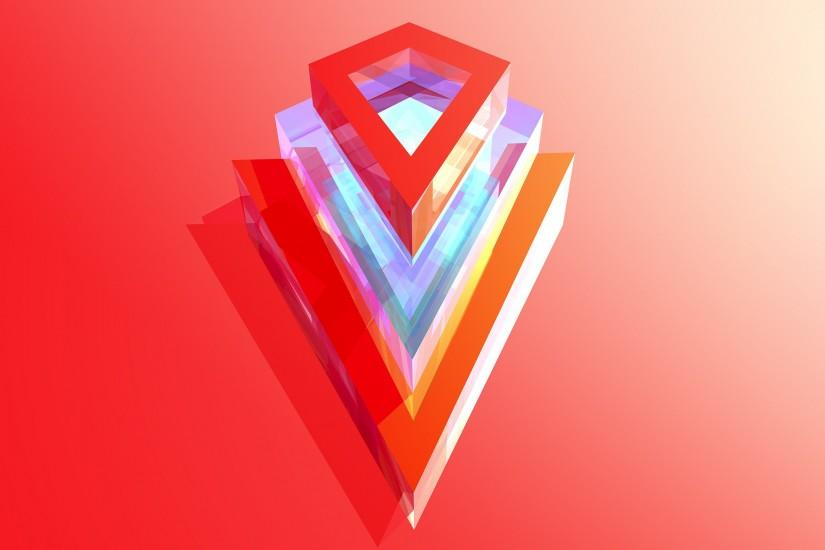 Geometric and Polygon Wallpaper | Pinterest | Red arrow, X... and Red