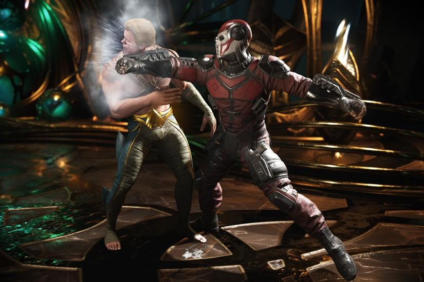 Injustice 2, Deadshot, Aquaman, Fight, 4K
