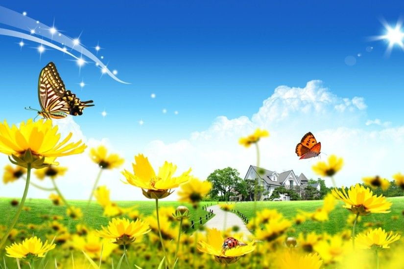 3D Butterfly and Flower Wallpaper | HD 3D and Abstract Wallpaper Free  Download ...