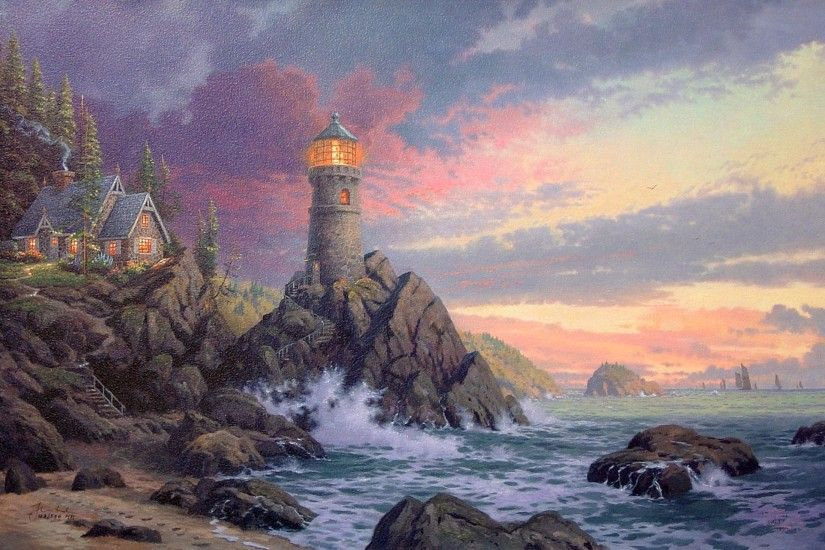 Thomas Kinkade - Rock Of Salvation