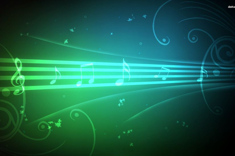 4296 musical n Green Music Notes Background Music background