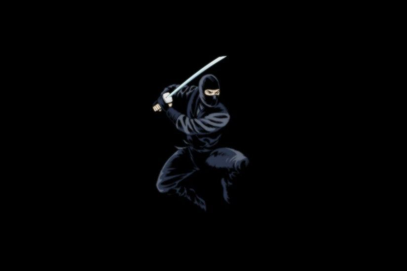 Wallpaper ninja, ninja, black, sword, dark background wallpapers .