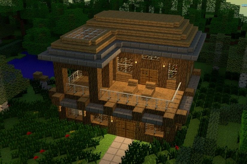 House In Minecraft Wallpaper 2560x1600 Picture