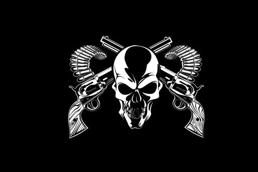 ... Cool Skulls With Guns Cool Wallpapers Skulls Group (75+) ...