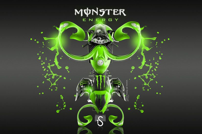 Monster Energy Fantasy Green Acid Moto BMW 1000