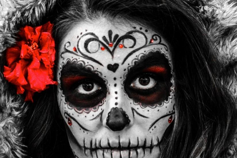 Artistic Sugar Skull. Wallpaper 605204