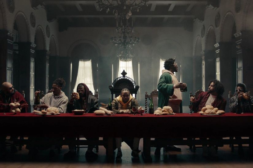 Screenshots from Kendrick Lamar's new single- HUMBLE