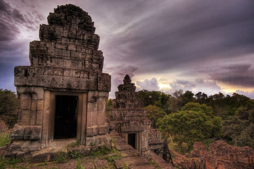 a hilltop temple at sunset near angkor wat 1920×1200 hd wallpapers desktop  images free windows wallpapers amazing colourful 4k artwork lovely  1920×1200 ...