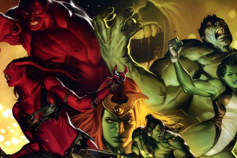 Hulk (comic character) She Hulk Red Hulk Red She Hulk wallpaper .