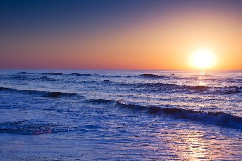 Ocean Sunrise Wallpaper Desktop Background with HD Wallpaper Resolution