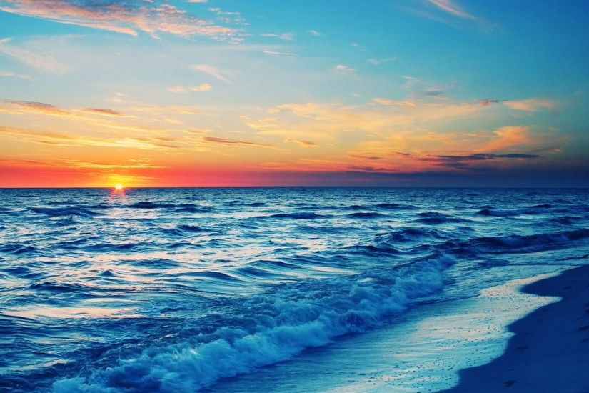 Ocean Sunset Background Image #8001