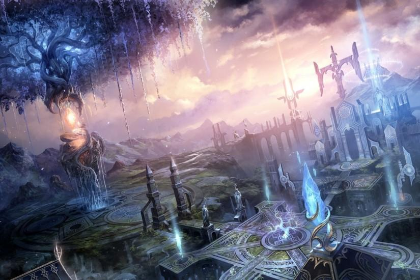 Fantasy magic wallpaper | Fantasy landscapes cities art magic wallpaper |  1920x1080 | 30223 .