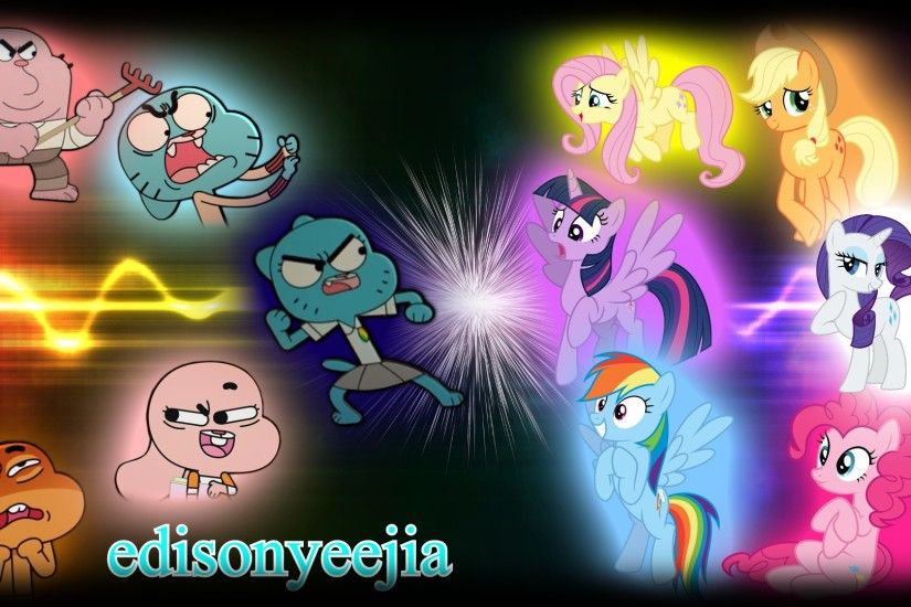 ... The Amazing World Of Gumball VS My Little Pony FIM by edisonyeejia