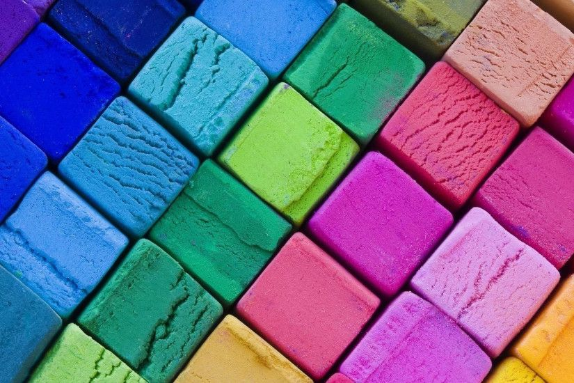 Multicolored cubes wallpaper
